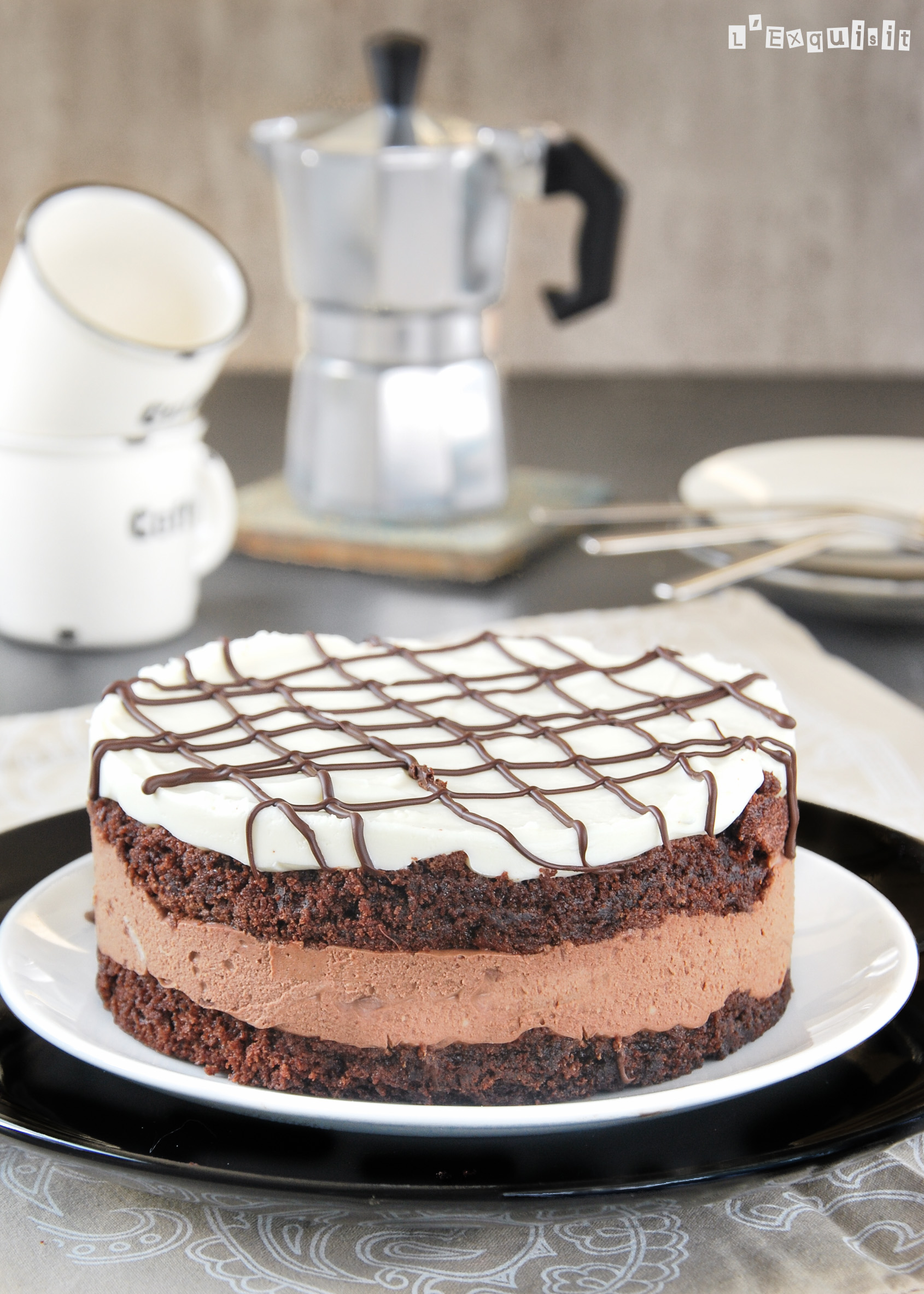 Tarta de chocolate y mascarpone