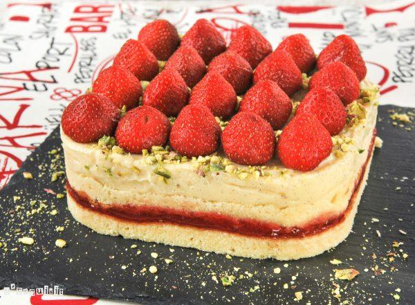 Tarta de crema y fresas - L´Exquisit
