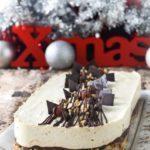 Tarta de queso al café con avellanas y chocolate {sin horno}