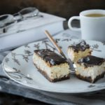 Tarta de queso al cafe con chocolate