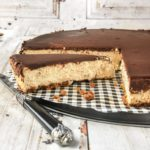 Tarta especiada de queso con chocolate