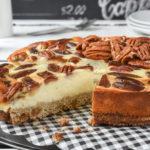 Tarta de queso, dátiles y nueces {sin gluten}