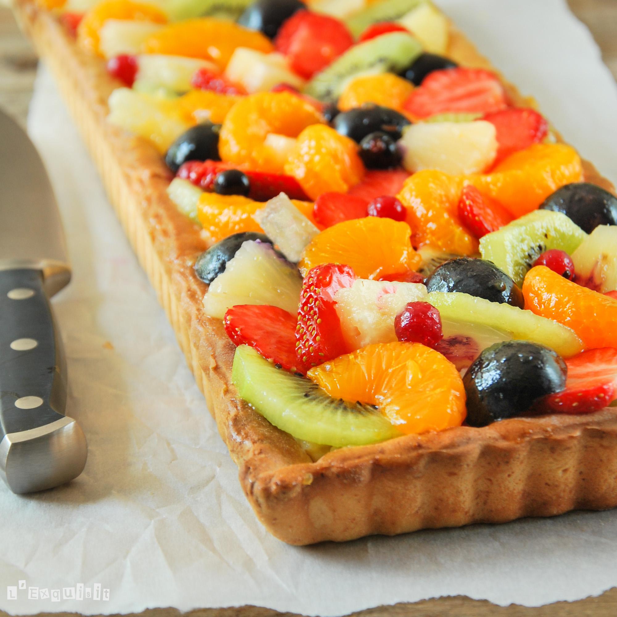 Tarta de verano {con frutas y crema}-4