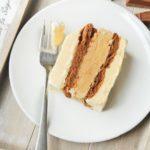 Tarta helada de vainilla, café y chocolate
