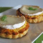 Tartaleta de cebolla, hinojo y queso de cabra