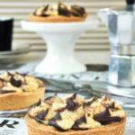 Tartaletas rellenas de chocolate con mascarpone