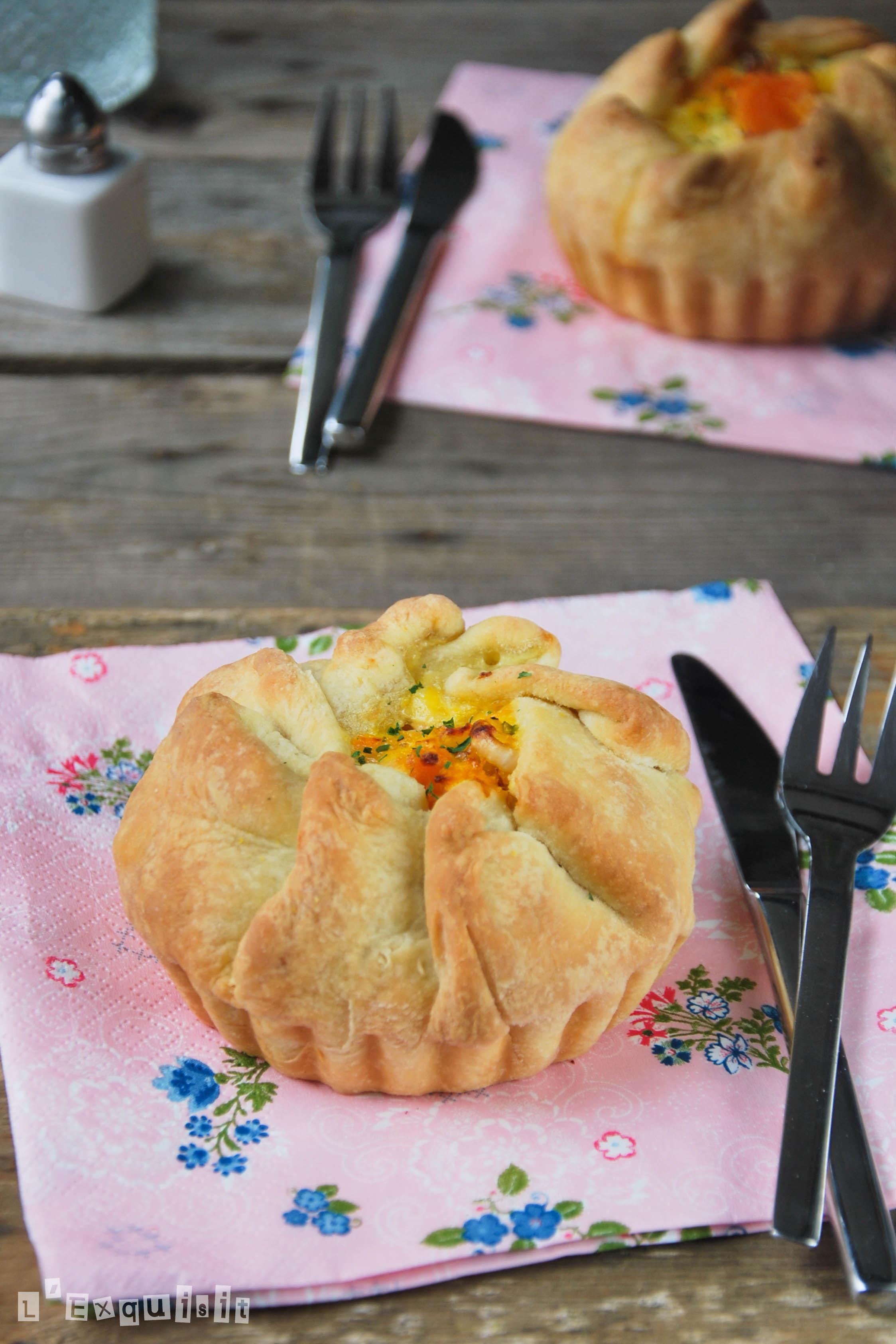 Tartaletas de verduras y queso