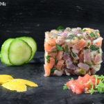 Tartar de atun y salmon