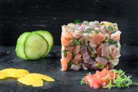 Tartar de atún y salmón