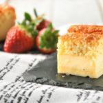 Tartita de crema con frutos rojos al caramelo
