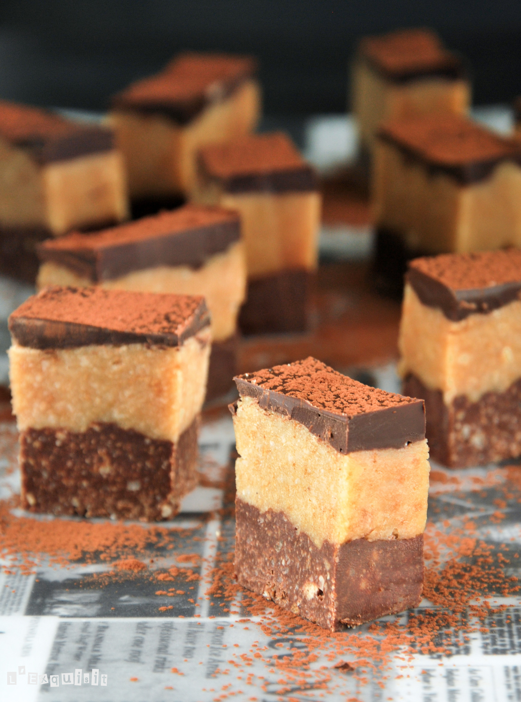 Tentación de chocolate y frutos secos