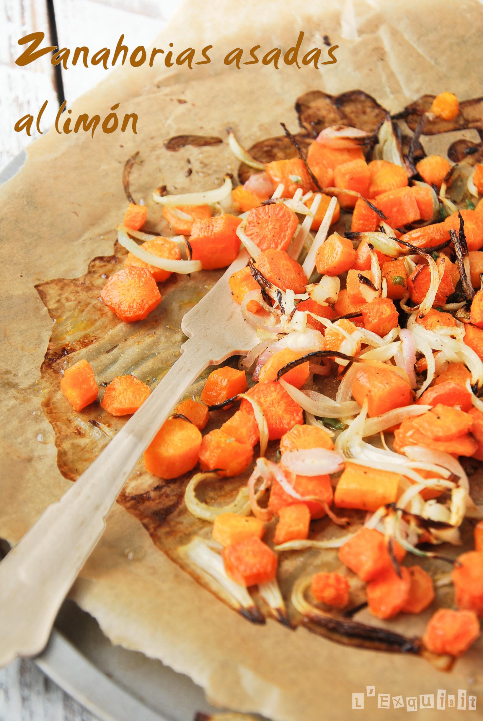 Zanahorias asadas al limón