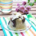 Capricho fresco de platano y chocolate