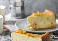 Cheesecake con pasas y naranja confitada