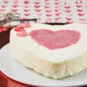Corazón de mascarpone y fresas