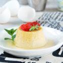 Flan de huevo a la vainilla
