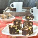 Fudge de chocolate y frutos secos