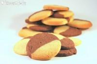 Galletas de mantequilla bicolor