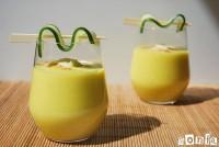 Gazpacho de pepino y mango