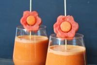 Gazpacho de sandia y tomates confitados