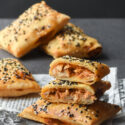 Paquetitos de hojaldre con pollo {con y sin gluten}