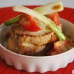 Pincho gratinado de lomo y camembert