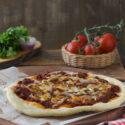 Pizza con boloñesa {con y sin gluten}