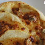 Pizza de pera y gorgonzola {con y sin gluten}