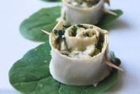 Rollitos de espinacas con queso