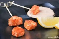 Salmón con salsa especiada