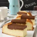 Tarta de queso con chocolate
