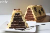 Tarta de chocolate y crema de mango