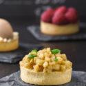 Tartaleta de crema y manzana {con y sin gluten}