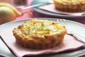 Tartaleta de cebolla y gorgonzola