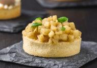 Tartaleta de crema y manzana (con y sin gluten)